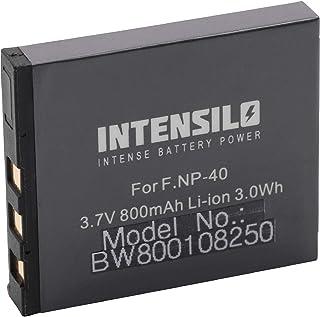 INTENSILO Li Ion Akku 800mAh (3.7V) für Kamera Camcorder Fuji Fujifilm FinePix F460, F 460, F470, F 470, F480, F 480 wie NP 40, D Li8, Klic 7005.
