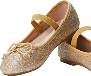 ADAMUMU Girls' Dress Shoes Ballet Mary Jane Flat Glitter...
