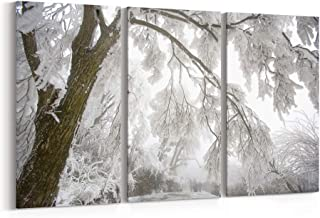 Winter Canvas Print Winter Canvas Art Winter Wall Art Canvas Multiple Sizes Gallery Wrapped Canvas on Pine Wooden Frame