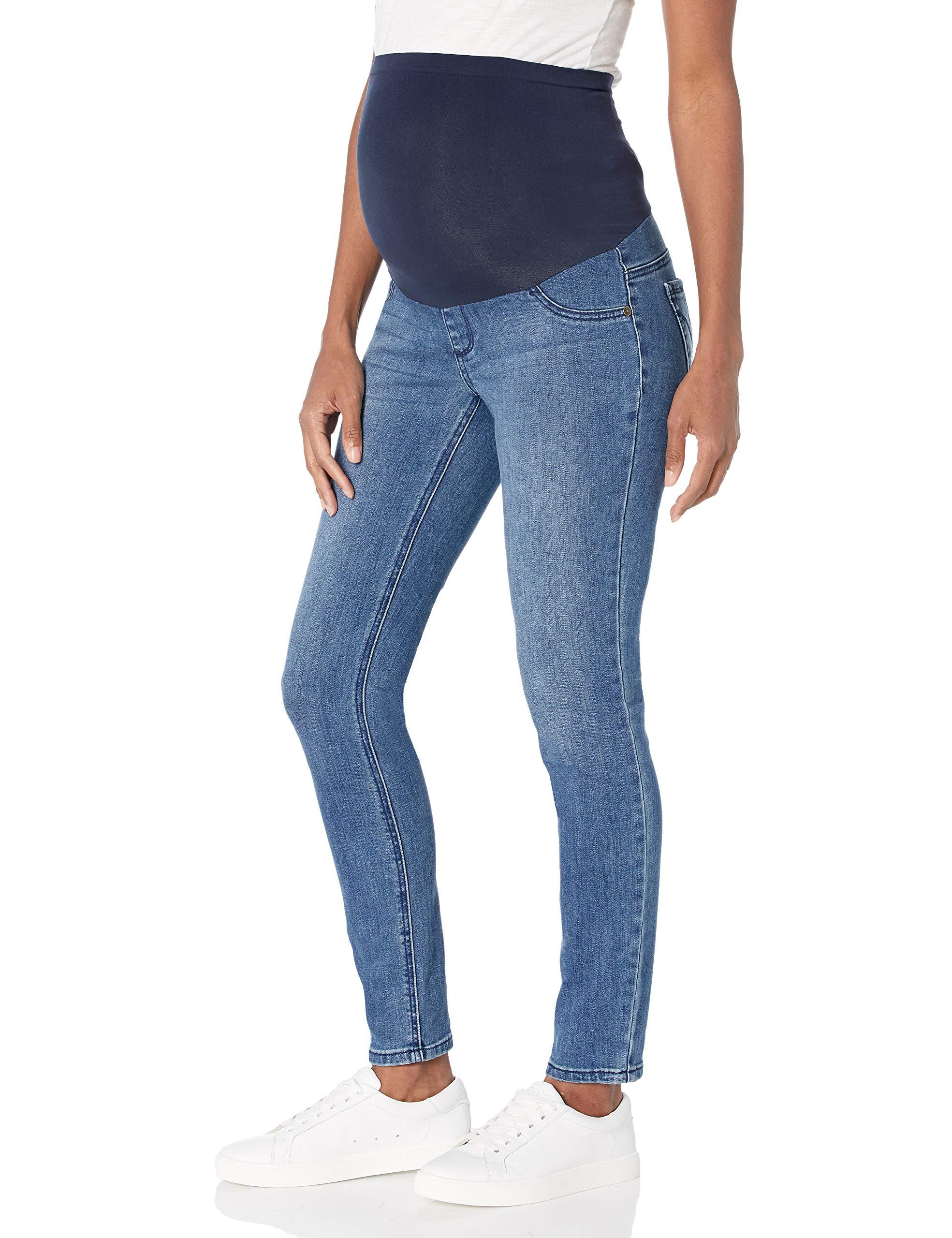 Women's Indigo Blue Super Stretch Secret Fit Belly Skinny Denim Jean
