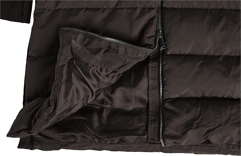 BCBGeneration Women's Duffle Coat with Faux Fur Hood