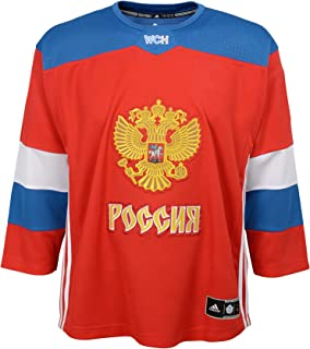 adidas Team Russia 2016 World Cup of Hockey Youth Red Replica Jersey