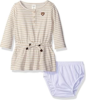OshKosh B'Gosh Baby Girls' Striped Knit Dress (Baby) - Beige - 6 Months