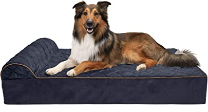 Furhaven Pet – Orthopedic Chaise Lounge, Full-Support Luxury Edition Sofa, Round..