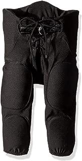 Intensity Boy's Integrated Football Pants with Belt, Black, Medium
