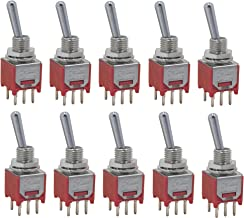 10 pcs Taiwan Subminiature DPDT sub Mini ON ON Toggle Switch for PCB Mount SMT SMD