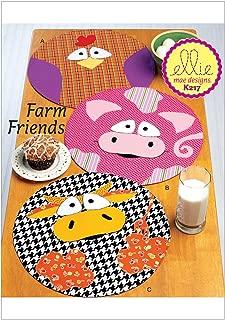 KWIK-SEW PATTERNS K0217 Circular Farm Animal Placemats, One Size