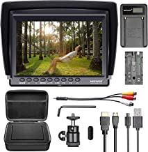 Neewer F100 Camera Field Monitor Kit:7 inches Ultra HD 1280x800 IPS Screen Field Monitor+F550 Replacement Battery+Micro USB Battery Charger+Carrying Case for Sony Canon Nikon Olympus Pentax Panasonic