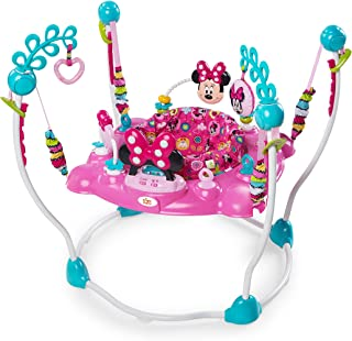 Minnie Mouse Peek-A-Boo Foldable Baby Girl Activity, Entertainment, Leaning, and Developmental Jumper with Lights, Melodie...