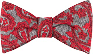Gris Paisley Bow Tie by Masonic Revival (Standard Self-Tied)