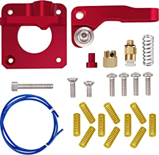 Upgraded Replacement Aluminum MK8 Extruder Drive Feed Kit for Creality 3D Ender 3, CR7, CR8, CR10, CR10S, CR10S4, 10 Pack Compression Heated Bed Spring, 1 Meter PTFE Tubing for Bowden 1.75 mm Filament