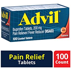 Advil (100 Count) Pain Reliever / Fever Reducer Coated Tablet, 200mg Ibuprofen, Temporary Pain Relie