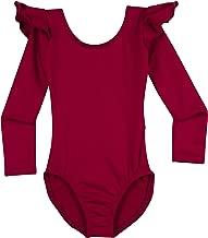 Leotard Boutique Dance Leotard with Flutter Ruffle Long Sleeve (Toddlers & Girls)