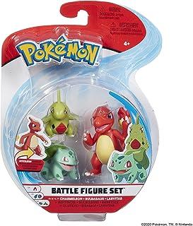 Pokémon Battle Figure Charmeleon, Bulbasaur, Larvitar, Multi Color, PKW0045