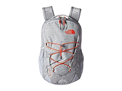 The North Face Jester (Mid Grey Dark Heather/Fiery Red) Backpack Bags