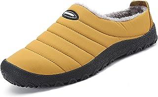 katliu Chaussons Femme Homme Pantoufles Hiver Chaud Chaussures D'Intérieur Extérieur avec Fourrure Confortable,Semelle Ant...