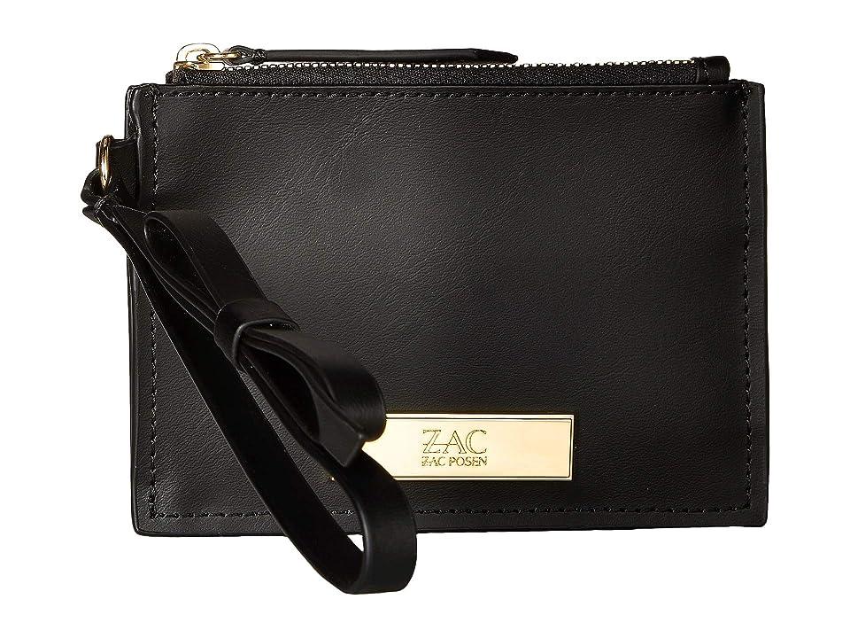 ZAC Zac Posen Earthette Credit Card Wristlet (Black) Wristlet Handbags