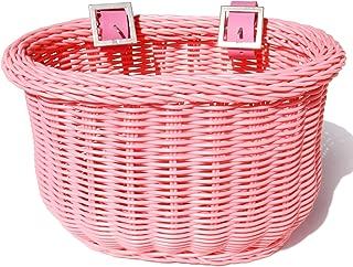 Colorbasket Kid's Front Handlebar Bike Basket,Pink