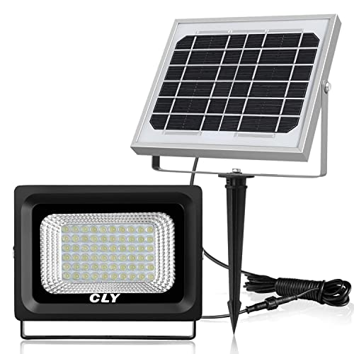 CLY 60 LED Solar Lights, Outdoor Security Floodlight, 300 Lumen, IP66 Waterproof,