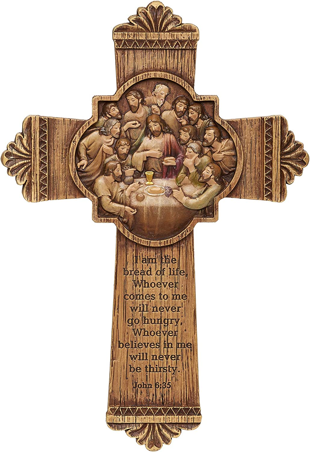 Joseph's Studio by Roman - Special sale Challenge the lowest price item Last Wall Supper Carved Cross L Wood