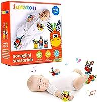LUDAZON® Sonaglini Sensoriali per lo sviluppo delle capacità intellettive, Giochi Neonato Montessori, Sonaglio in...