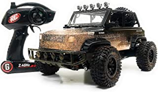 O.B Toys&Gift RC SUV Monster Jeep Off Road 2.4 GHz Remote Control Toy Truck 1:12 Scale , High Speed Electric RC Car Toy w/ LED Lights , Mud Defender & Rechargeable Battery