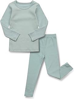 AVAUMA Baby Boys Girls Pajama Set Kids Toddler Snug fit Basic Cotton Sleepwear pjs for Daily