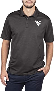 Top of the World West Virginia Mountaineers Men's Dark Heather Carbon Polo, Large