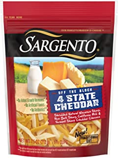 Sargento Foods Chef Blend 4 State Cheddar Shred, 7.5 oz