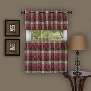 "Achim Home Furnishings Harvard Pair Window Curtain Tier, 57"" x 65"", Burgundy"