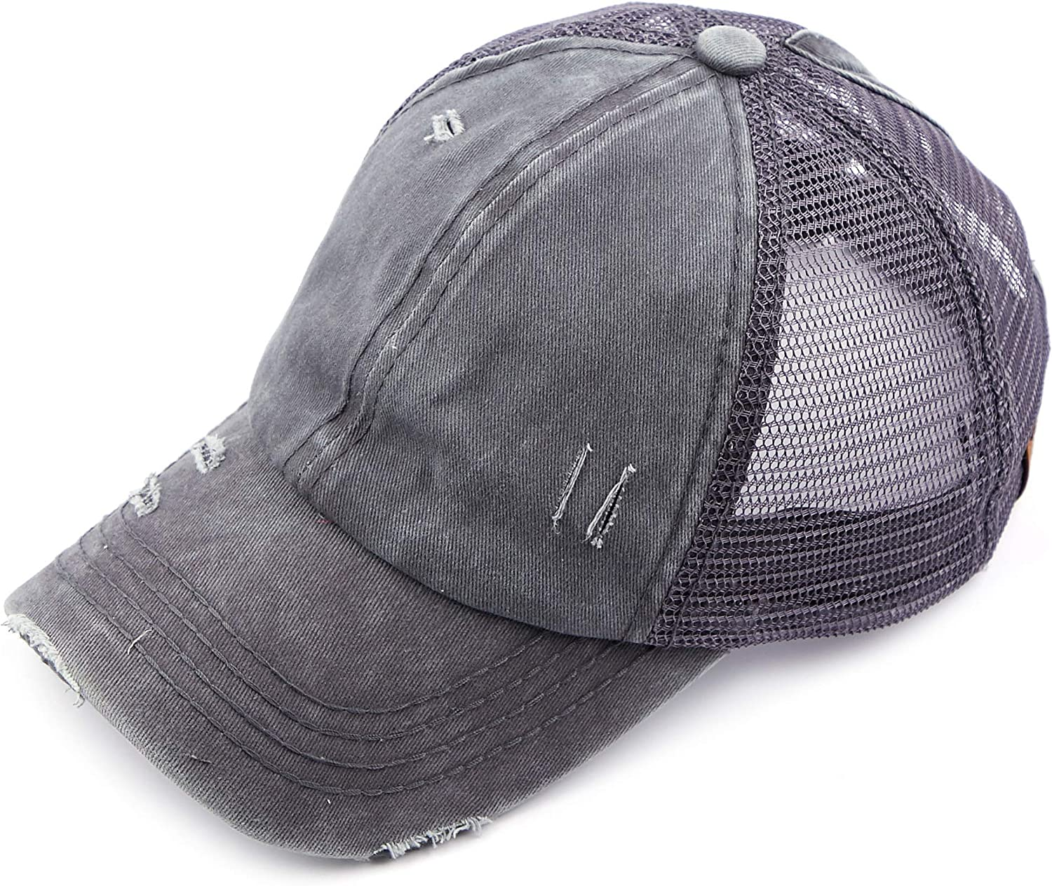 C.C National products Washed Distressed Cotton Denim Adjustable Hat Baseb Cheap mail order shopping Ponytail