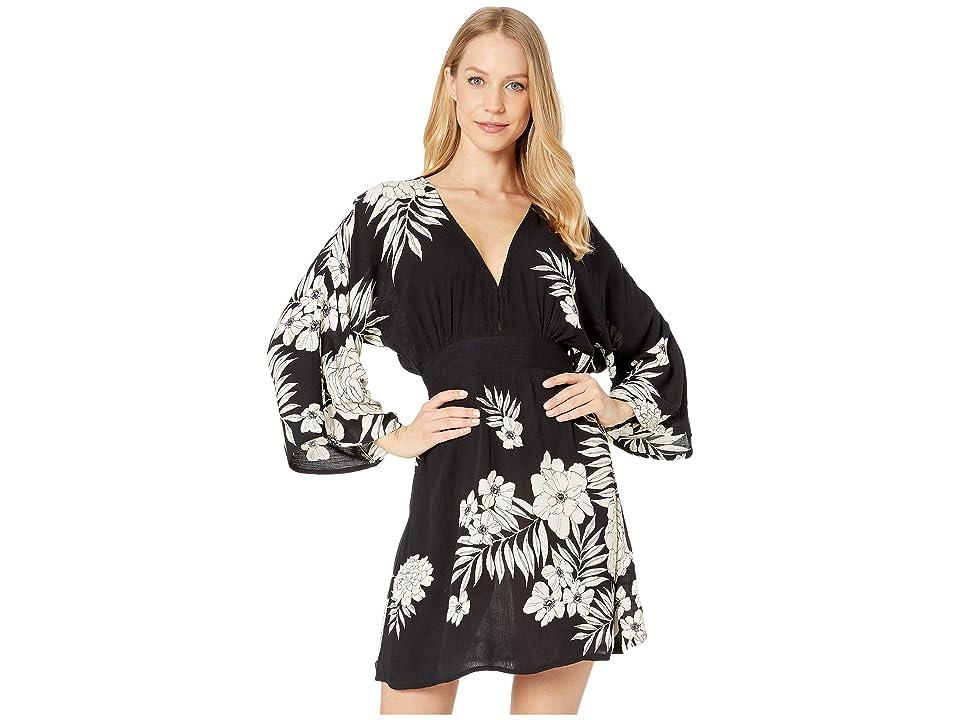 Billabong Take The Plunge Mini Dress (Black/White) Women