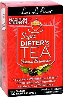 Laci Le Beau All Natural Botanical Maximum Tea - 12 ct (Pack of 8 boxes)