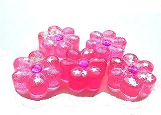 Pequeñas figuras de resina flores rosas Silvys handmade