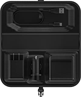 mophie Travel Kit - Portable, Wireless Charging for Samsung, Apple iPhone 8/iPhone X and Other Qi-Enabled Smartphones - Black