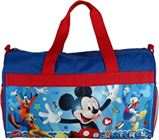 """Boys 18"""" Mickey Mouse Blue/Red Duffel Bag Standard"""