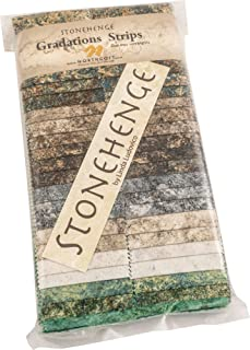 Linda Ludovico Stonehenge Gradations Mixers Earth Strips 40 2.5-inch Strips Jelly Roll Northcott