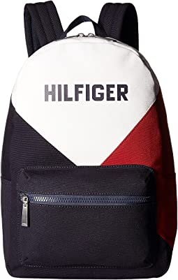 Tommy Hilfiger Hilfiger Logo Backpack Color Block Canvas