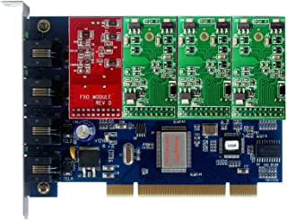 FXS FXO Card with 1 FXO+3 FXS Modules,Supports Freepbx,Asterisknow,Issabel for SIP Phone System Call Centre VoIP Phony PBX