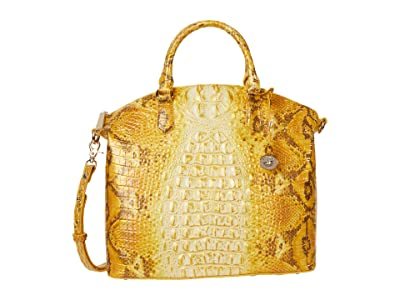 Brahmin Ombre Melbourne Large Duxbury Satchel (Canary) Handbags