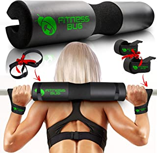 Fitness Bug Squat Bar Neck Pad - Barbell Pad For Hip...