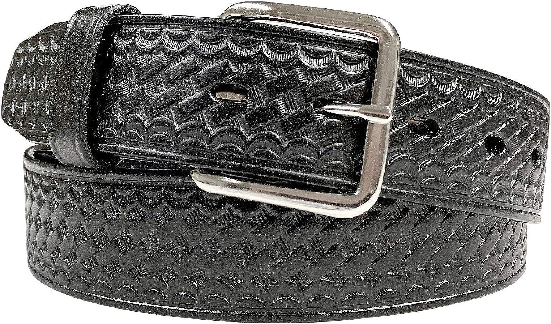 Elegant Men's Basketweave 2021 model 1.5 Inch Wide Genuine Leather Piece One Utilit