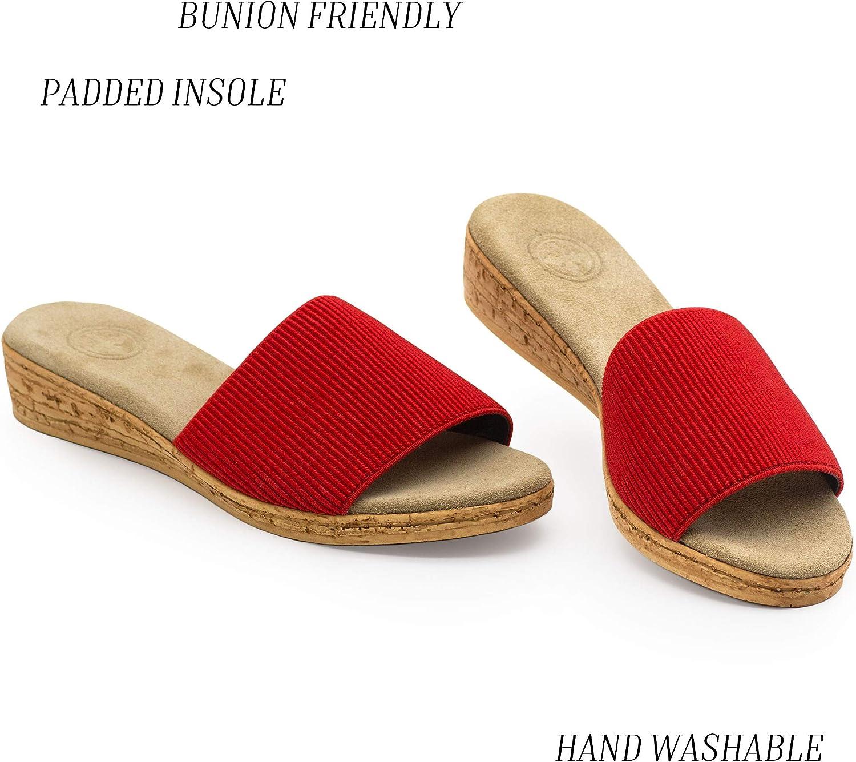 Seabrook Cork Wedge Slide Sandal - by Charleston Shoe Co.