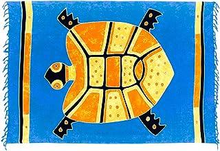 Kascha Sarong ca. 170cm x 110cm Handbemalt inkl. Sarongschnalle im Schmetterling Design - Viele exotische Farben und Muster zur Auswahl - Pareo Dhoti Lunghi