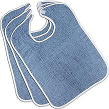 Utopia Towels Premium Quality Adult Terry Cloth Bibs (3-Pack, Blue)