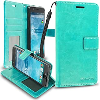 OnePlus 3 Wallet, PROWORX Mint Green Premium Luxury PU Leather Wallet Flip Protective Case Cover with Card ID Pocket Slots & Stand For OnePlus 3
