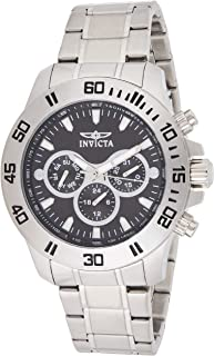 Invicta 21481 Specialty Men's Wrist Watch Stainless Steel Quartz Black Dial, Analog Display