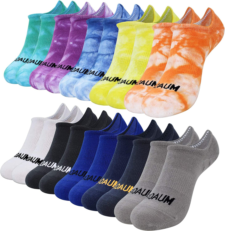 BIOAUM Women and Men Socks 10 Pairs Low Cut Anti-Slid Casual Cotton No Show Socks