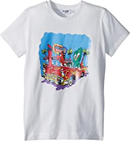 Moschino Kids Short Sleeve Car at Diner Graphic T-Shirt (Big Kids)
