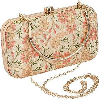 INAAYA Floral Multicolor Wedding Clutch Evening Bag ladies purse handbags for women